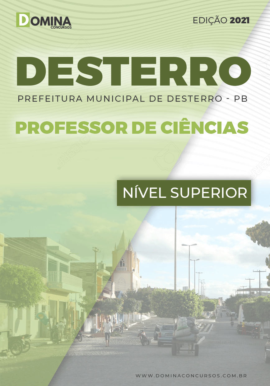Apostila Concurso Pref Desterro PB 2021 Professor de Ciências