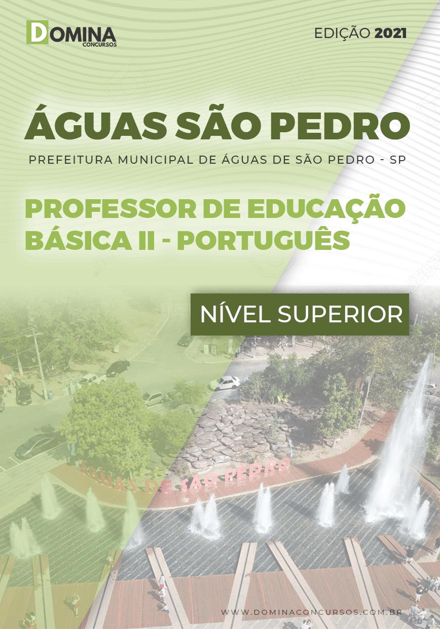 Apostila Pref Águas São Pedro SP 2021 Prof Básica II Português