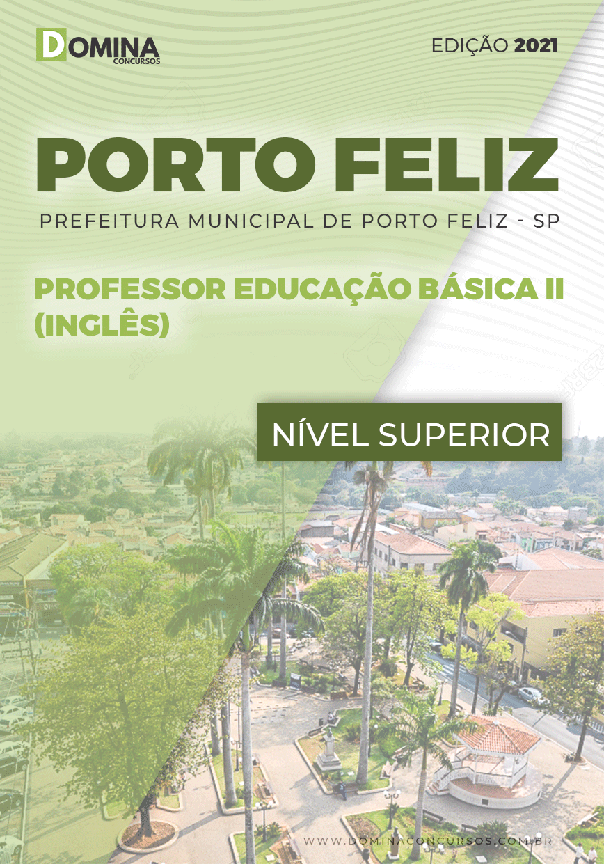 Apostila Pref Porto Feliz SP 2021 Professor Básica II Inglês