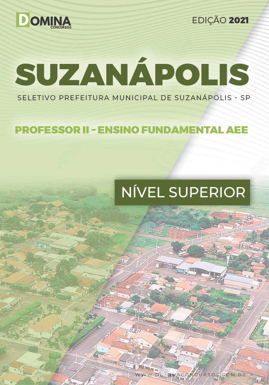 Apostila Pref Suzanápolis SP 2021 Prof II Ensino Fundamental AEE