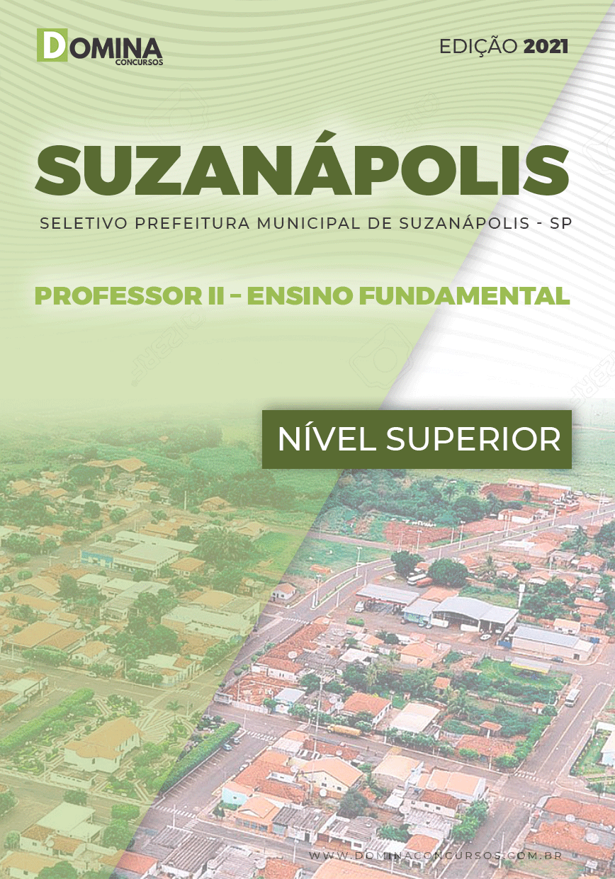 Apostila Pref Suzanápolis SP 2021 Prof II Ensino Fundamental