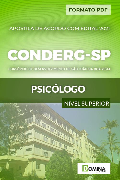 Apostila Processo Seletivo CONDERG SP 2021 Psicólogo