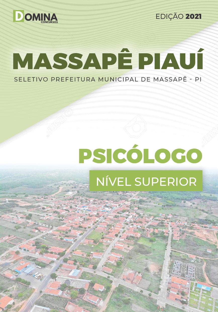 Apostila Seletivo Pref Massapê Piauí PI 2021 Psicólogo