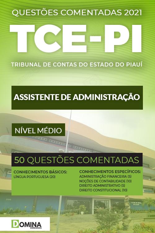 Questões Comentadas TCE PI 2021 Assistente de Administração