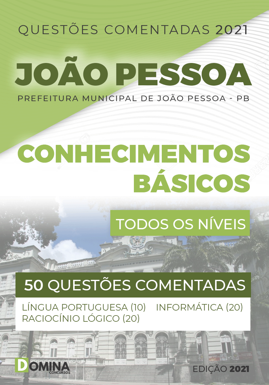 Intesivo Questões Comentadas Pré-Concurso João Pessoa PB