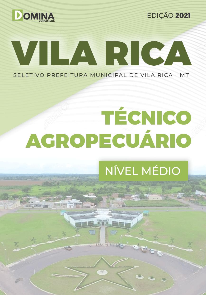 Apostila Seletivo Pref Vila Rica MT 2021 Técnico Agropecuário