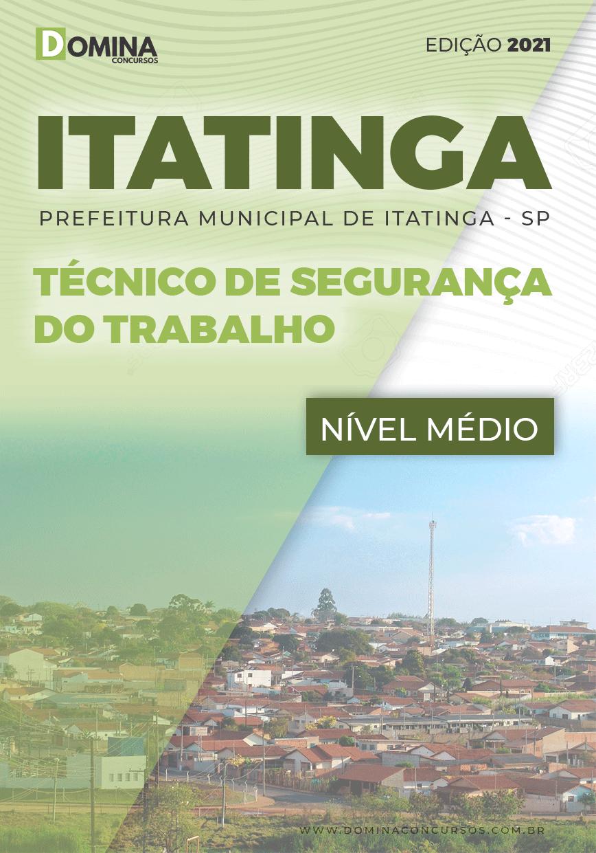 Apostila Pref Itatinga SP 2021 Técnico de Segurança do Trabalho