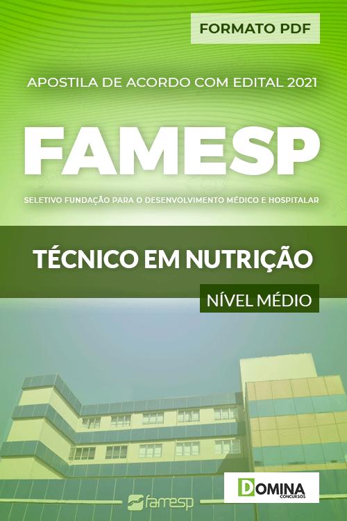 Apostila Processo Seletivo FAMESP 2021 Técnico em Nutrição