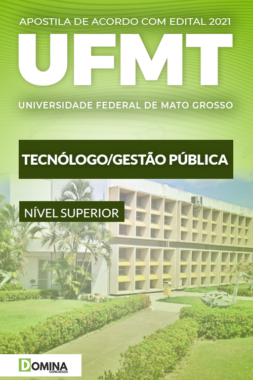 Apostila Concurso UFMT 2021 Tecnólogo Gestão Pública