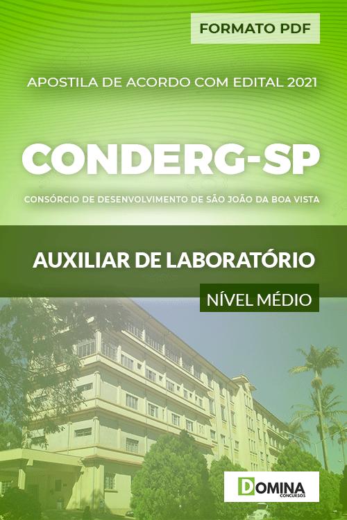 Apostila Seletivo CONDERG SP 2021 Auxiliar de Laboratório
