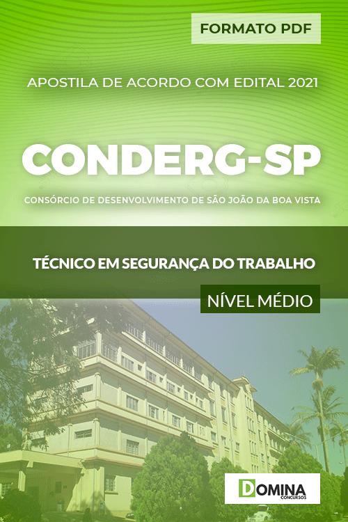 Apostila CONDERG SP 2021 Técnico em Segurança do Trabalho