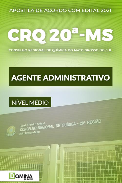 Apostila Concurso CRQ MS 20 Região Agente Administrativo