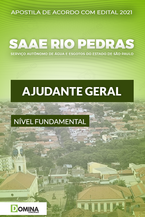 Apostila SAAE Rio das Pedras SP 2021 Ajudante Geral
