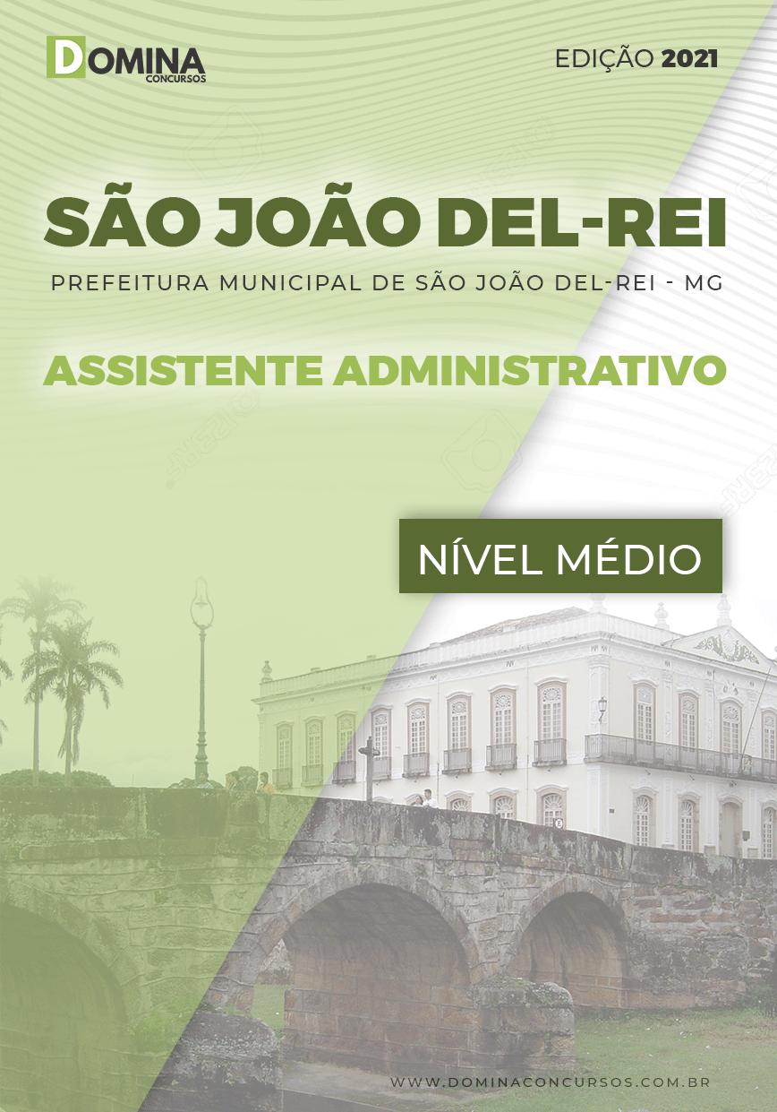 Apostila Pref São João Del Rei MG 2021 Assistente Administrativo