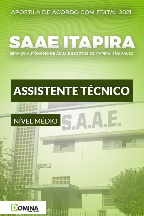 Apostila Concurso SAAE de Itapira SP 2021 Assistente Técnico