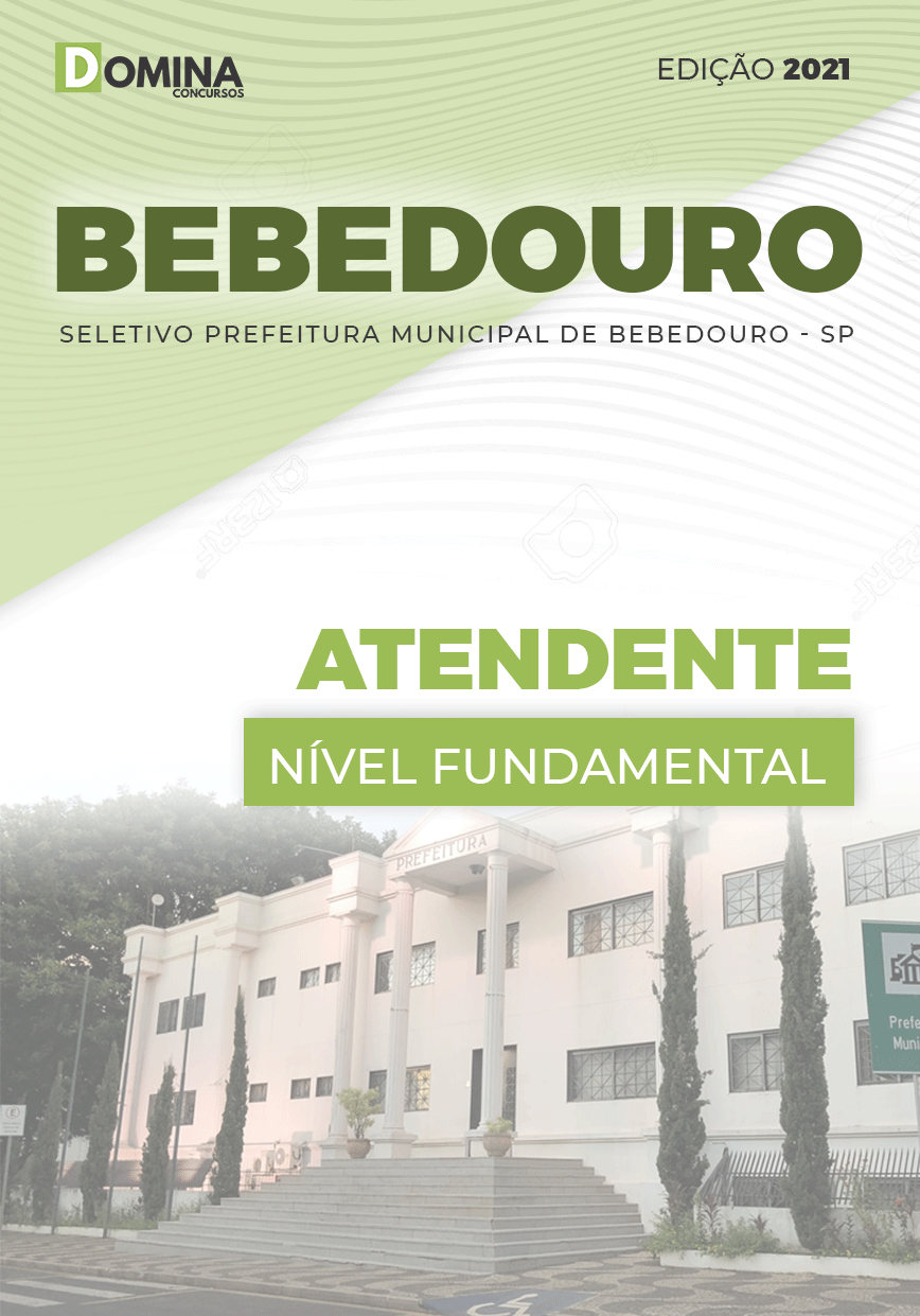 Apostila Seletivo Pref Bebedouro SP 2021 Atendente