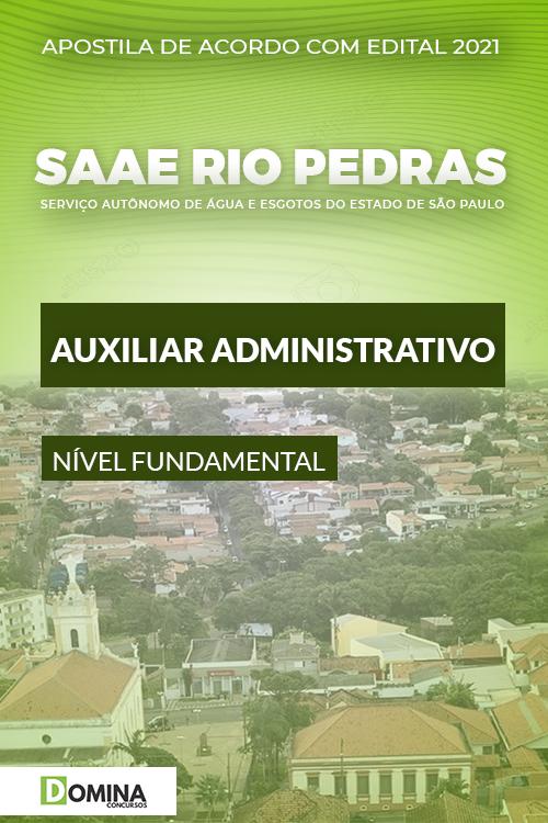 Apostila SAAE Rio das Pedras SP 2021 Auxiliar Administrativo