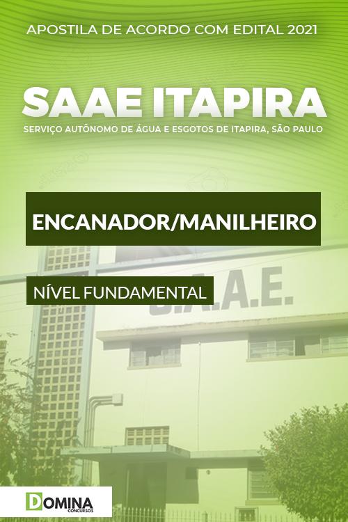 Apostila Concurso SAAE de Itapira SP 2021 Encanador Manilheiro
