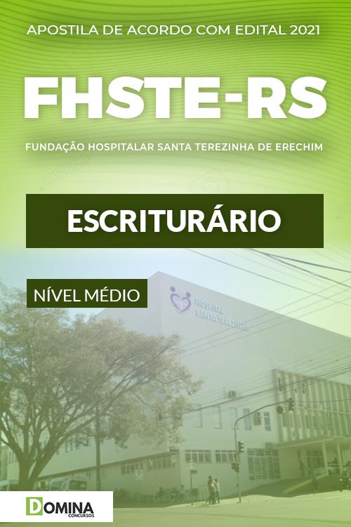 Comprar Apostila Concurso FHSTE RS 2021 Escriturário