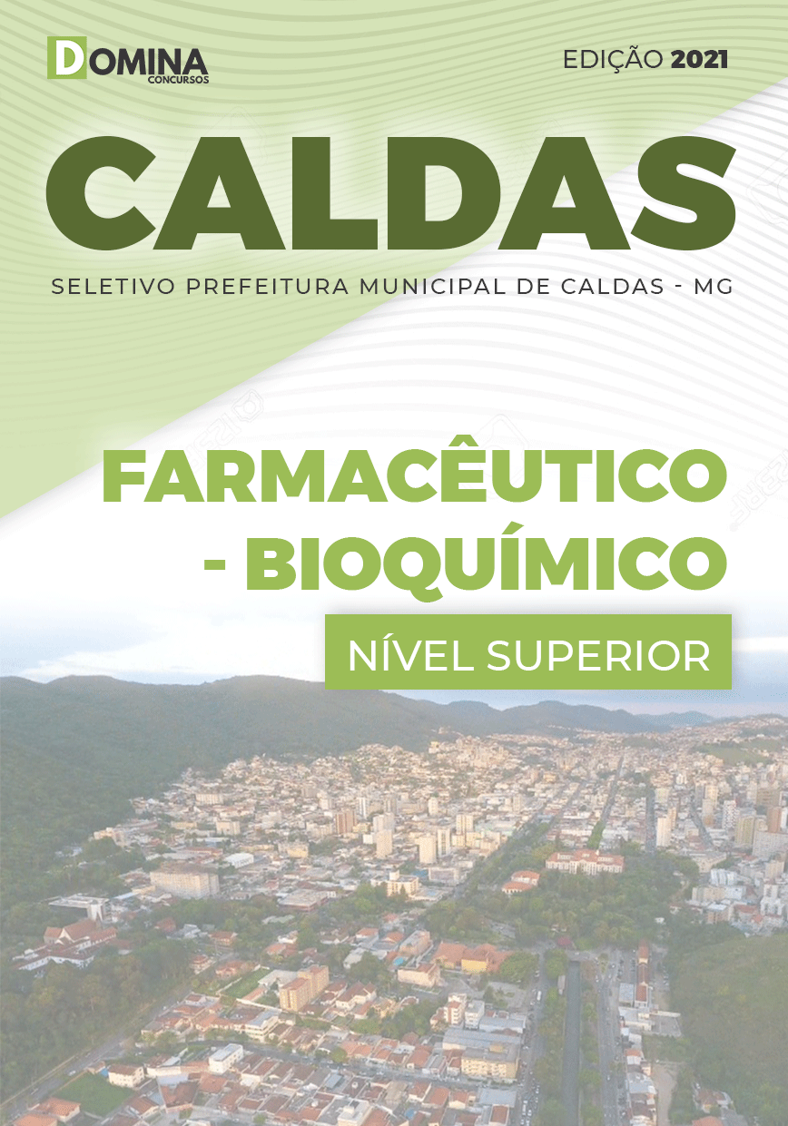 Apostila Seletivo Pref Caldas MG 2021 Farmacêutico Bioquímico