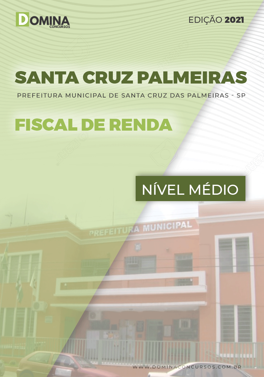 Apostila Santa Cruz das Palmeiras SP 2021 Fiscal de Renda