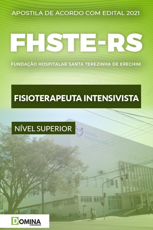 Apostila Concurso FHSTE RS 2021 Fisioterapeuta Intensivista