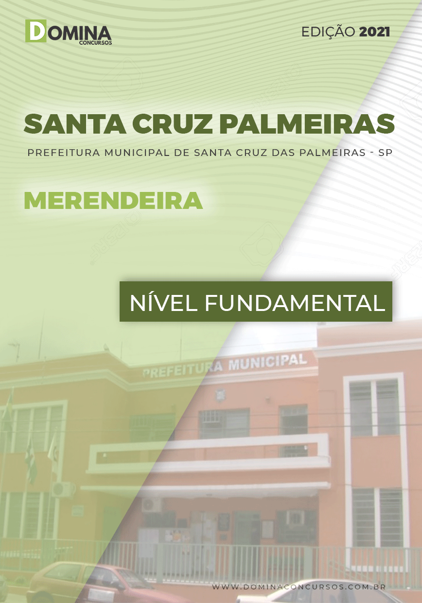 Apostila Pref Santa Cruz das Palmeiras SP 2021 Merendeira