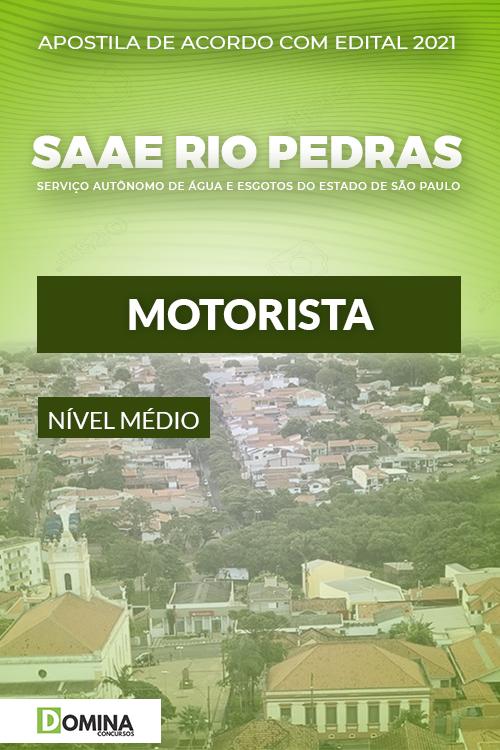 Apostila Concurso SAAE Rio das Pedras SP 2021 Motorista