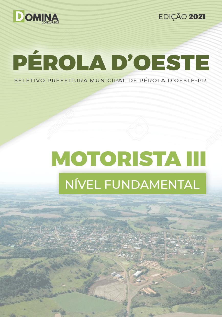 Apostila Seletivo Pref Pérola D'Oeste PR 2021 Motorista III