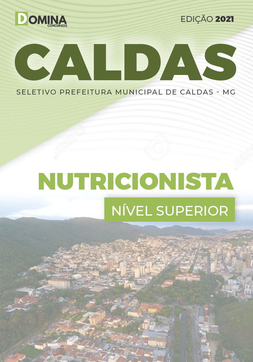 Apostila Processo Seletivos Pref Caldas MG 2021 Nutricionista