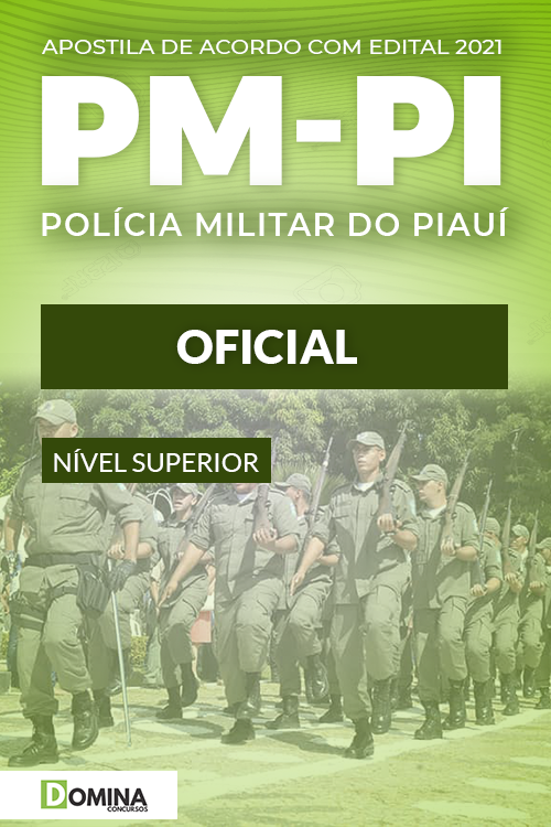 Apostila Concurso Público PM PI 2021 Oficial NUCEPE