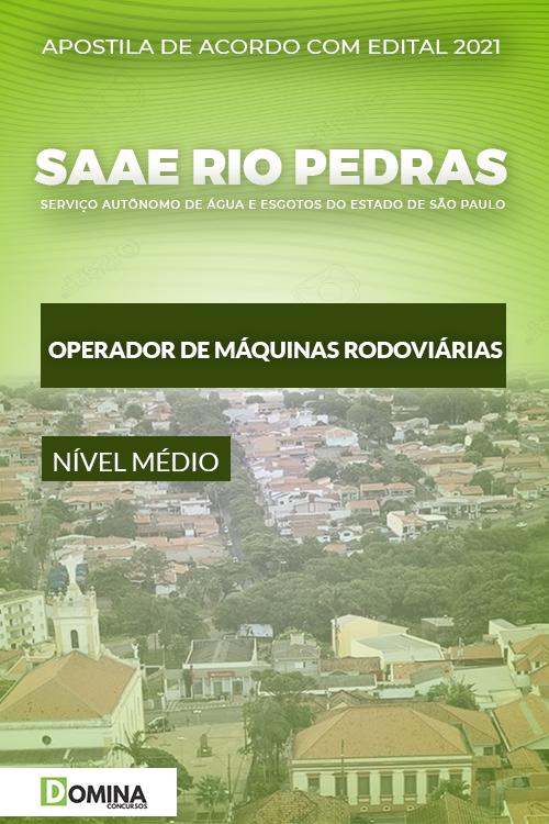 Apostila SAAE Rio das Pedras SP 2021 Operador Máquinas Rodoviárias