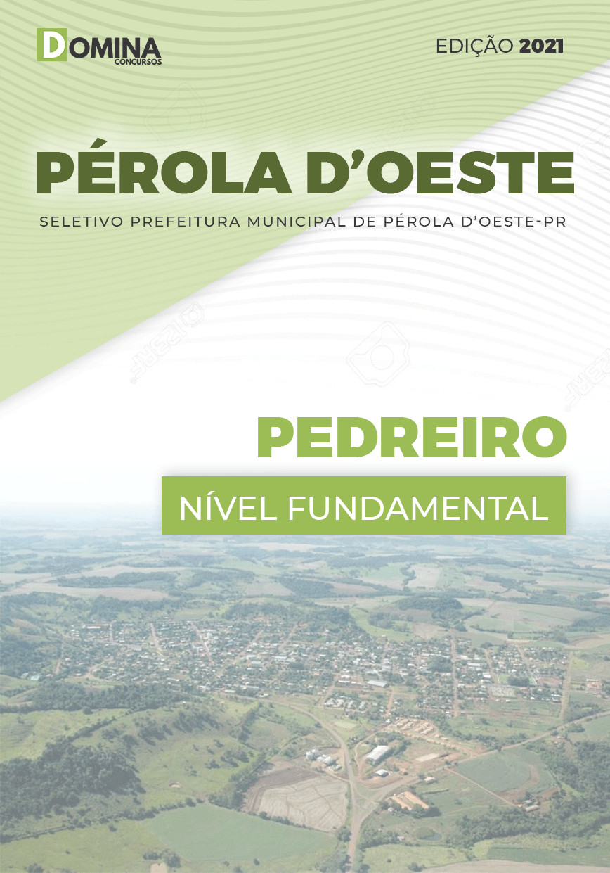 Apostila Seletivo Pref Pérola D'Oeste PR 2021 Pedreiro