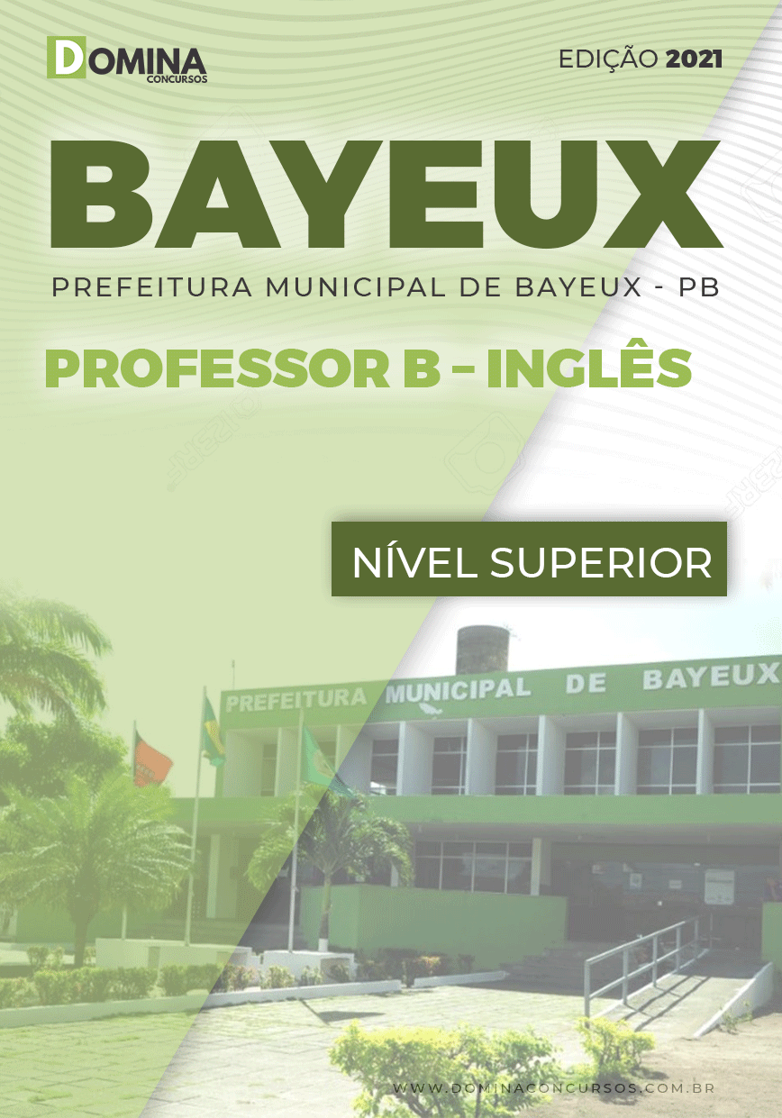 Apostila Concurso Pref Bayeux PB 2021 Professor B Inglês