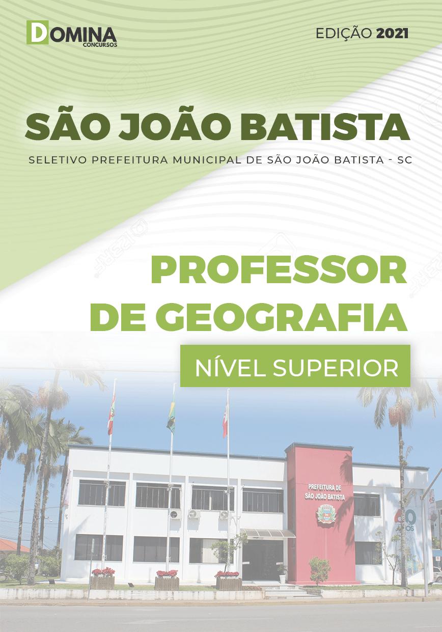 Apostila Pref São João Batista SC 2021 Professor de Geografia
