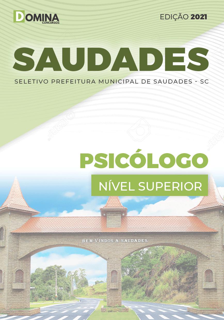 Apostila Processo Seletivo Pref Saudades SC 2021 Psicólogo