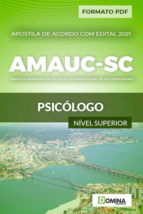 Apostila Processo Seletivo AMAUC SC 2021 Psicólogo