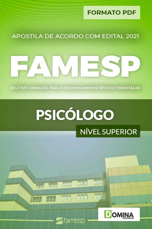 Apostila Processo Seletivo FAMESP SP 2021 Psicólogo