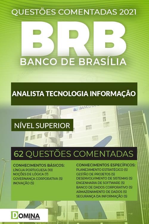 62 Questões Comentadas Concurso BRB 2021 Analista Tecnologia Informação