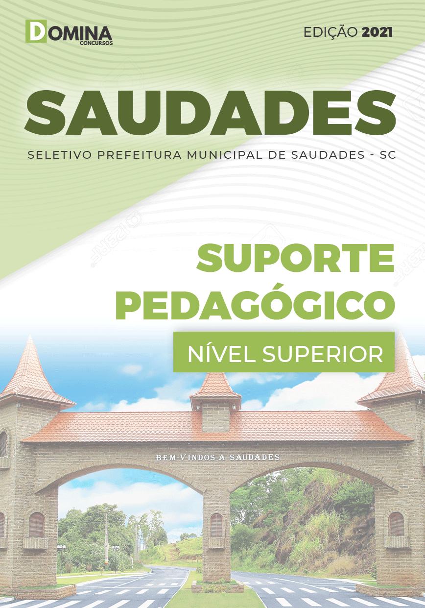 Apostila Seletivo Pref Saudades SC 2021 Suporte Pedagógico