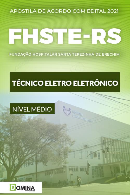 Apostila Concurso FHSTE RS 2021 Técnico Eletro Eletrônico