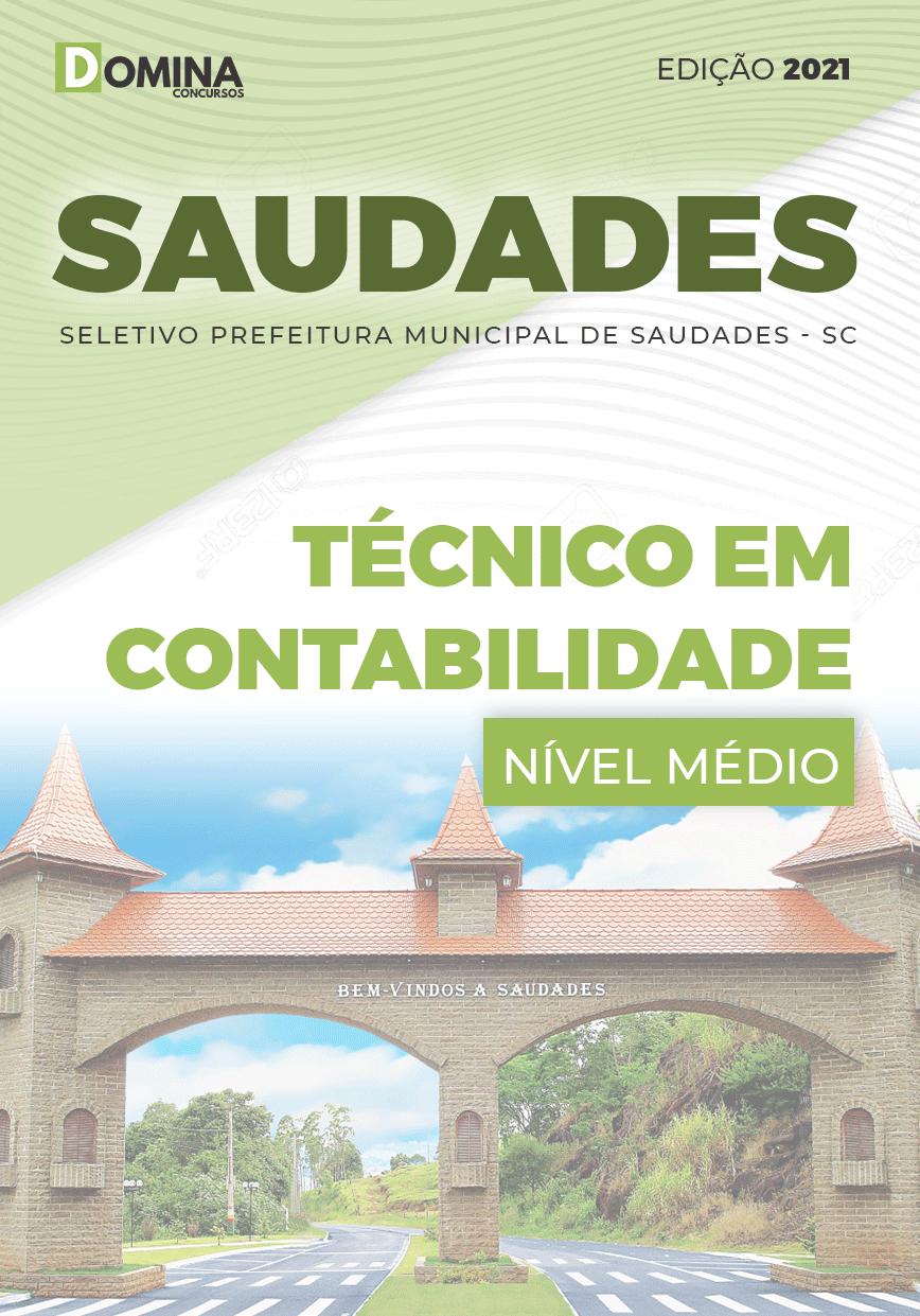 Apostila Pref Saudades SC 2021 Técnico em Contabilidade