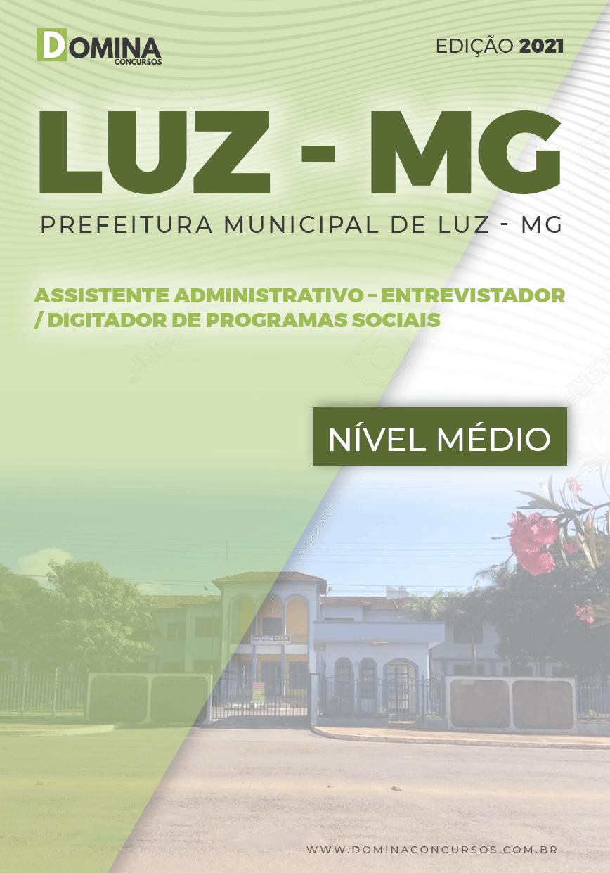 Apostila Pref Luz MG 2021 Assistente Administrativo Programas Sociais
