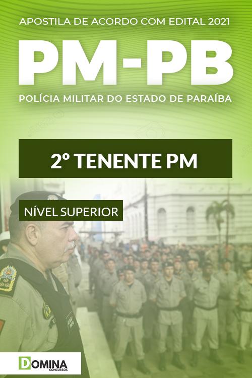 Apostila Concurso Polícia Militar PM PB 2021 2º Tenente PM