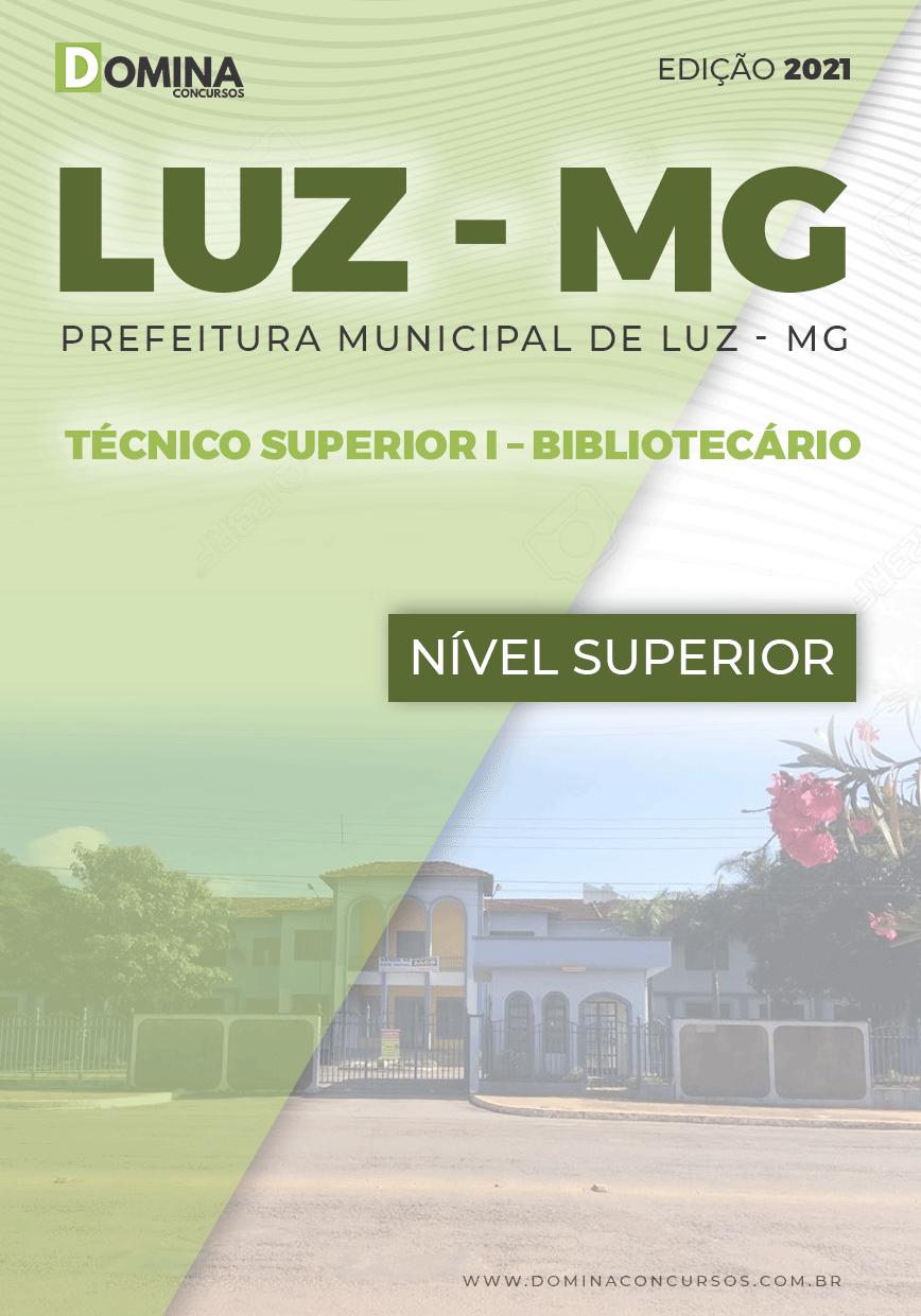 Apostila Pref Luz MG 2021 Técnico Superior Bibliotecário