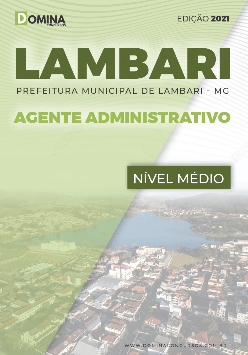 Apostila Concurso Pref Lambari MG 2021 Agente Administrativo