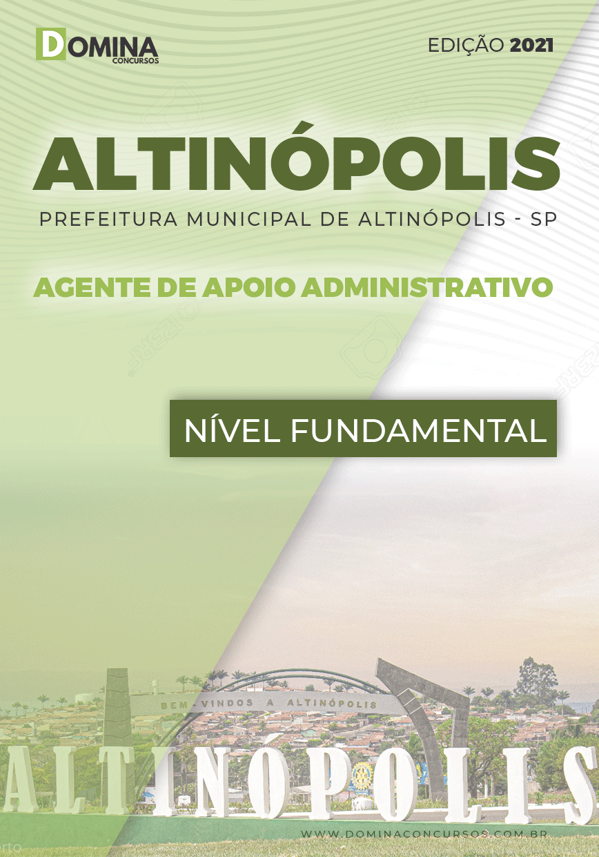 Apostila Pref Altinópolis SP 2021 Agente de Apoio Administrativo