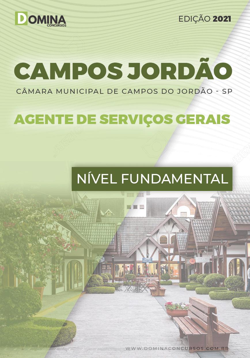 Apostila Câmara Campos Jordão SP 2021 Agente de Serviços Gerais
