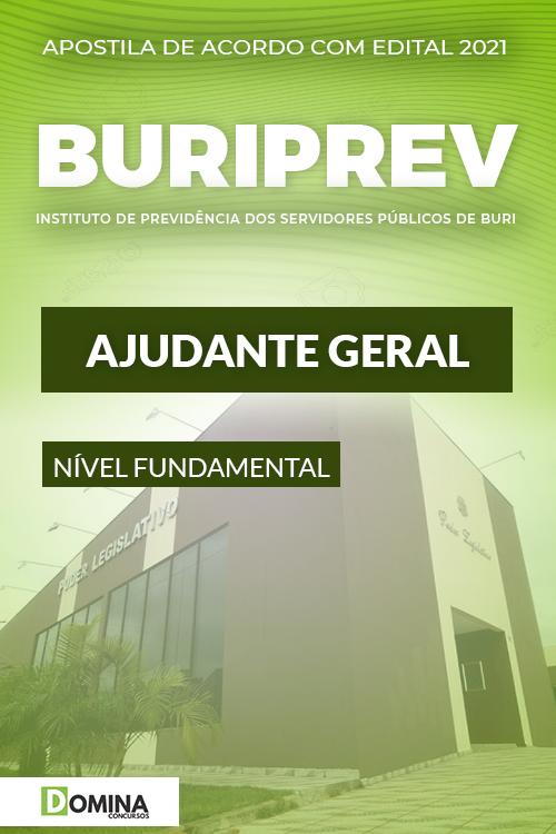 Apostila Concurso Público Buriprev SP 2021 Ajudante Geral