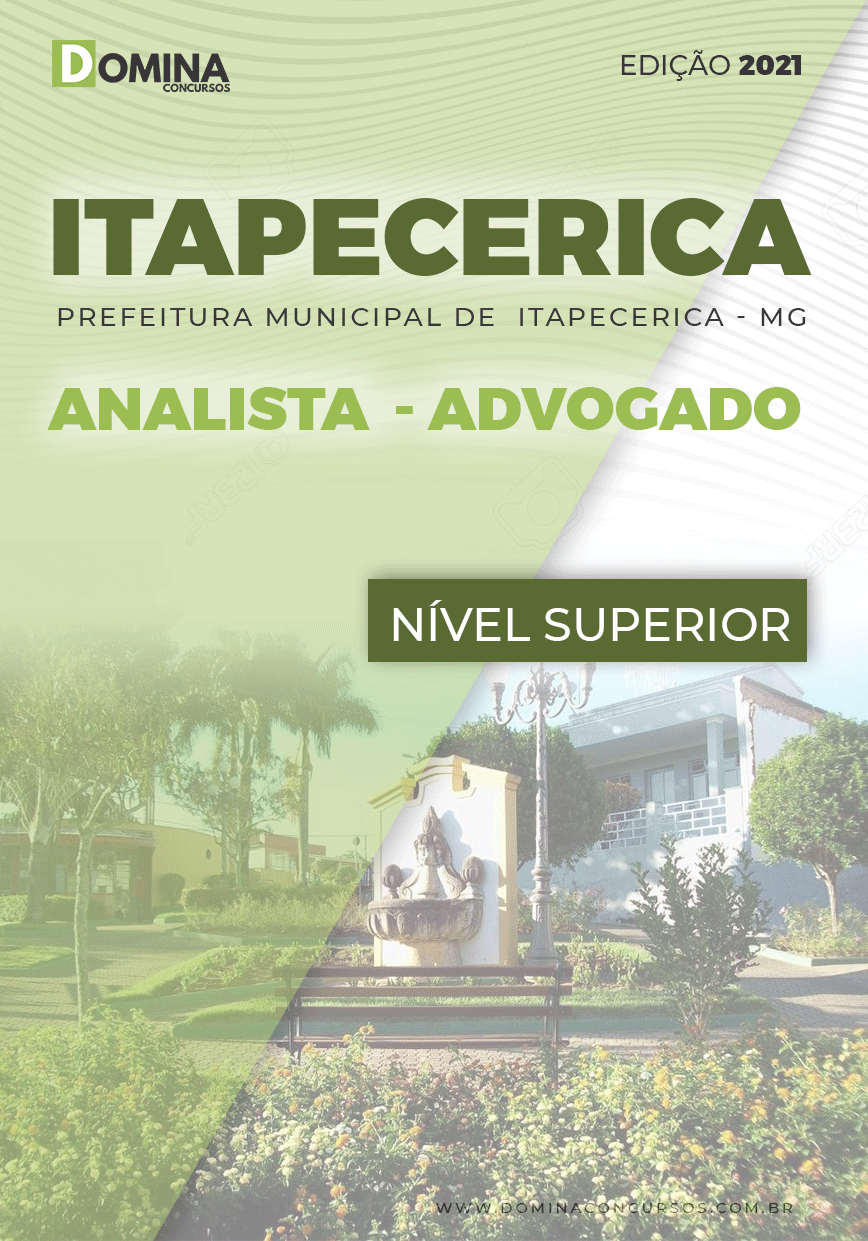 Apostila Concurso Pref Itapecerica MG 2021 Analista Advogado
